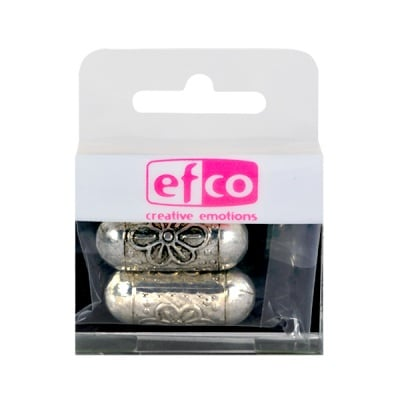 Пластмасови перли, 12 x 31 mm, 2 бр., старо сребро