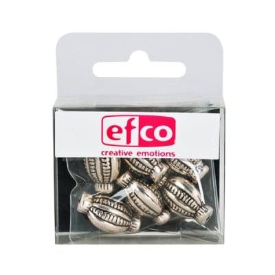 Пластмасови перли, 14 x 20 mm, 6 бр., старо сребро