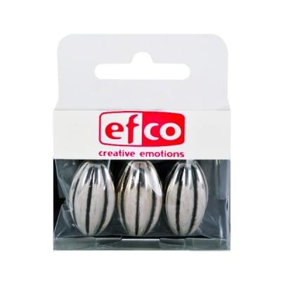 Пластмасови перли, 15 x 23 mm, 3 бр., старо сребро