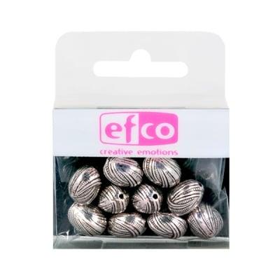 Пластмасови перли, 9 x 12 mm, 10 бр., старо сребро