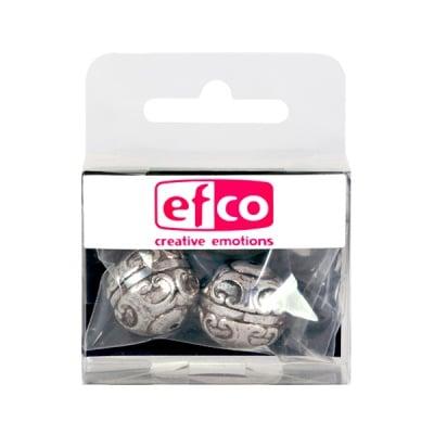Пластмасови перли, ф 18 mm, 2 бр., старо сребро