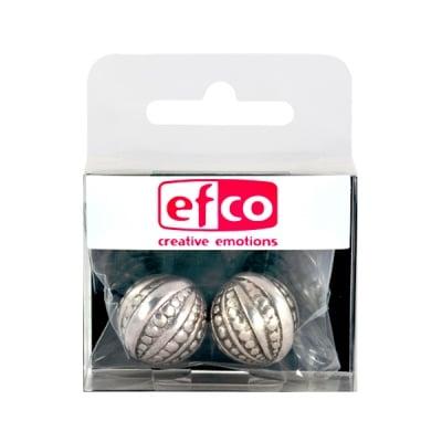Пластмасови перли, ф 20 mm, 2 бр., старо сребро