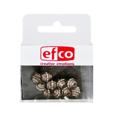 Пластмасови перли, ф 6 mm, 10 бр., старо сребро