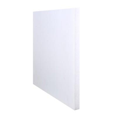 Плоскост за декорация от лек порест материал, 1 лист, 50 х 65 сm, 10 mm, бяла