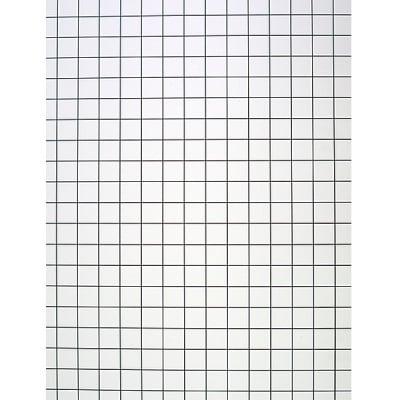Плоскост за декорация от лек порест материал, 1 лист,  50 x 65 cm x 5 mm, бяла разграфена