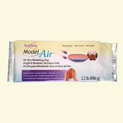 Полимерна глина Sculpey Air Dry, 1 kg, червено-кафяв