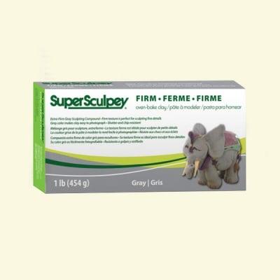 Полимерна глина Super Firm Sculpey, 454g, сив