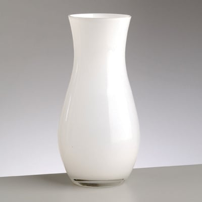Порцеланова ваза – амфора, ф 9,5 x H 20 cm, бяла