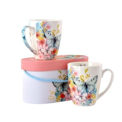 Комплект порцеланови чаши Butterfly, 2 бр.