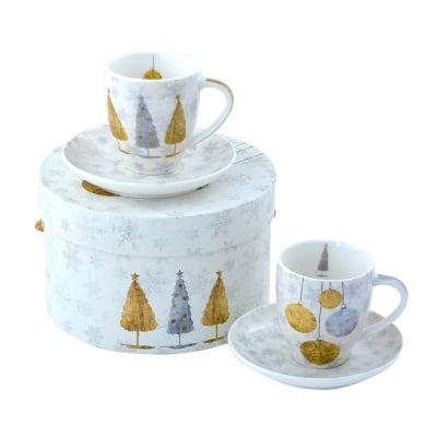 Комплект порцеланови чаши Holiday trees,2бр.