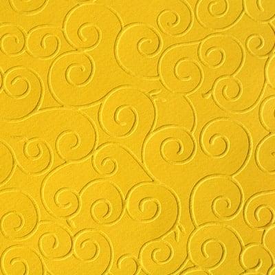 Преге картон, 220 g/m2, 50 x 70 cm, 1л, арабески лятно жълт