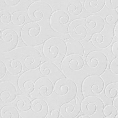 Преге картон, 220 g/m2, 50 x 70 cm, 1л, арабески старинно бял