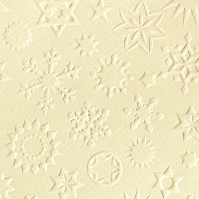 Преге картон, 220 g/m2, 50 x 70 cm, 1л, звезди старинно бял