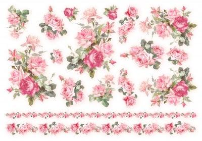 Декупажна тишу хартия, ROSE & ROSES, 35 x 50 cm