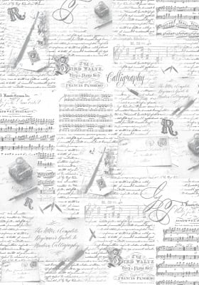 Декупажна тишу хартия, CALLIGRAPHY, 35 x 50 cm