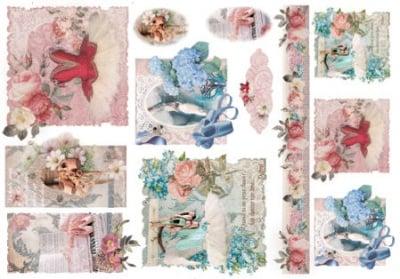 Декупажна тишу хартия, BALLET, 35 x 50 cm