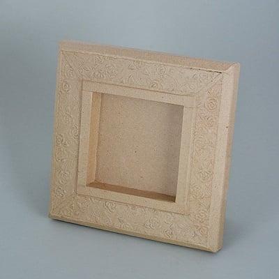Рамка от папие маше с орнаменти, квадрат