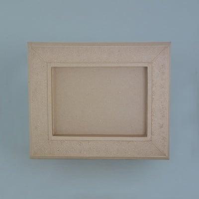 Рамка от папие маше с орнаменти, правоъгълник, 34,5 x 28,5 x 2,5 cm