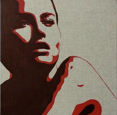 Рамка с платно и шаблон с рисунка SOLO Goya, 40 x 40 cm, Жена