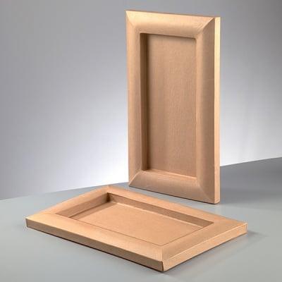 Рамка за картина от папие маше, правоъгълник, 26,5 x 43,5 x 2,5 / I 16 x 33 x 2 cm