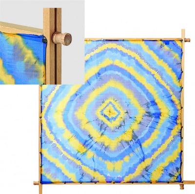 Рамка за рисуване на коприна JAVANA, 90 х 90 cm, кабъри