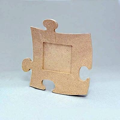 Рамка за снимка MDF пъзел, квадратна, 12 x 12 cm