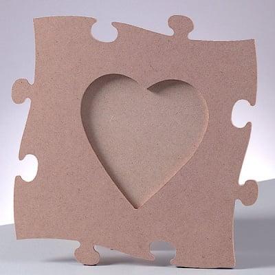 Рамка за снимка MDF пъзел, сърце, 23 x 23 cm x 4 mm