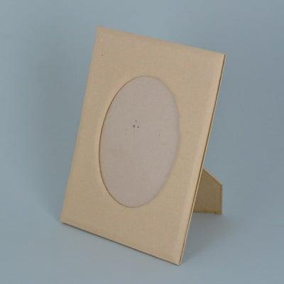 Рамка за снимка от папие маше, овал, 20 x 14,5 / 13 x 9 cm