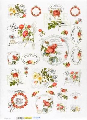 Декупажна тишу хартия, ROSES, 35 x 50 cm