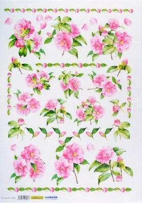 Декупажна тишу хартия, CAMELIE, 35 x 50 cm