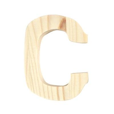 """Буква декоративна RicoDesign, """"C"""", натурално дърво, 8 cm"""