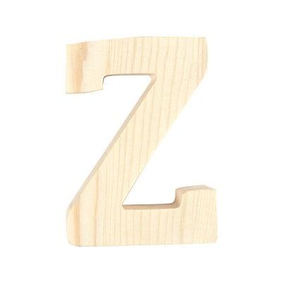 """Буква декоративна RicoDesign, """"Z"""", натурално дърво, 8 cm"""