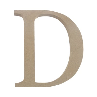 "Декоративен символ RicoDesign, ""D"", MDF, 4,1x3,9 cm"