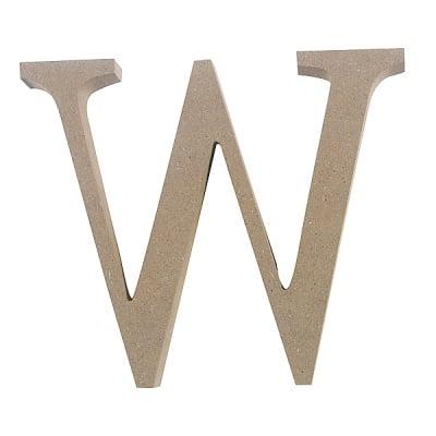"Декоративен символ RicoDesign, ""W"", MDF, 4,1x4,8 cm"