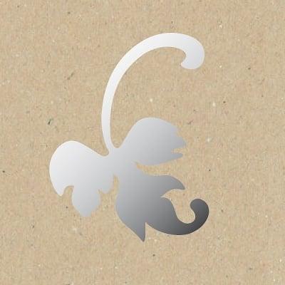 Декоративна фигура RicoDesign, ЛЯВ ЛИСТ, SILVER, 6.5/10 cm