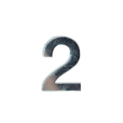 """Декоративен символ RicoDesign, """"2"""", SILVER, 32/23 mm"""