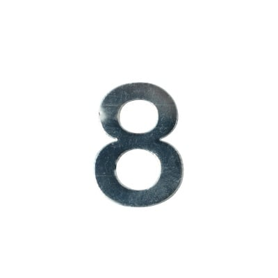 """Декоративен символ RicoDesign, """"8"""", SILVER, 32/23 mm"""