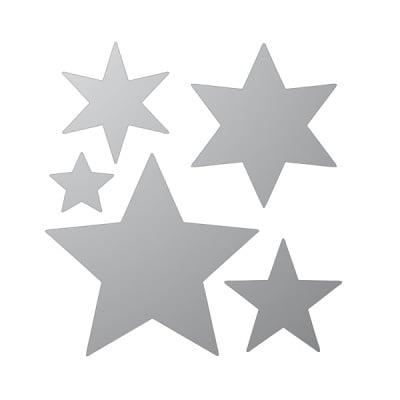 Декоративна фигура RicoDesign, ЗВЕЗДИ 5ч., SILVER