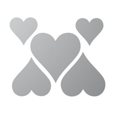 Декоративна фигура RicoDesign, СЪРЦА 2ч., SILVER,