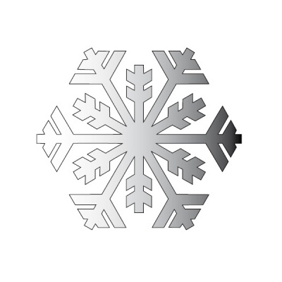 Декоративна фигура RicoDesign, КРИСТАЛ 1, SILVER, 8/12 cm