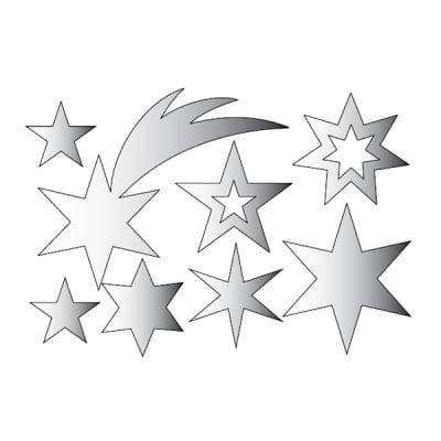 Декоративна фигура RicoDesign, ЗВЕЗДИЦИ 8ч., SILVER, 11.5/7.5 cm