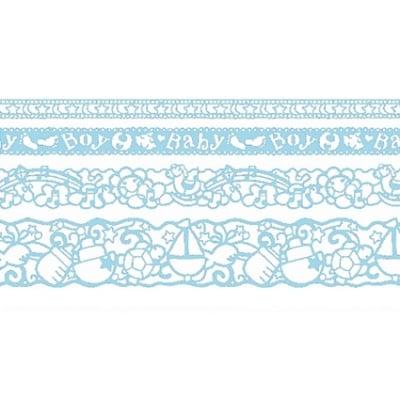 Лента самозалепяща бордюрна RicoDesign, BLUE BABY, 4 ролки x 1 m