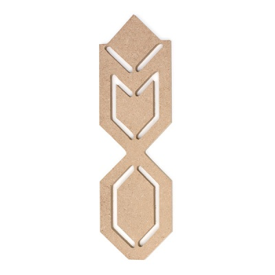 Декоративна фигура RicoDesign, ИНДИАНСКИ МОТИВИ, MDF, 5/16.5/0.5 cm