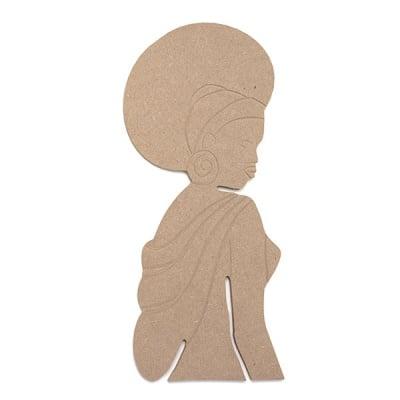 Декоративна фигура RicoDesign, АФРИКАНКА, MDF, 23/10/0.5 cm