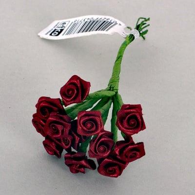 Роза, Dior rose, ø 15 mm, бордо