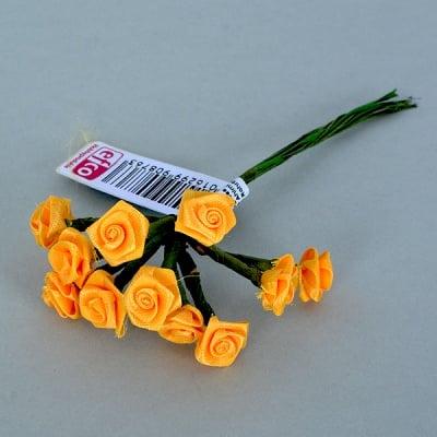 Роза, Dior rose, ø 15 mm, тъмно жълта