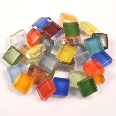 Мозаечна плочка Soft Glas Glitter, 10x10 mm,микс, 200g, 210 бр.