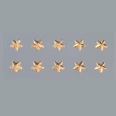 Самозалепващи се кристали, Stern, звезда, 4, 5, 6, 8 mm, 56 бр., светъл топаз
