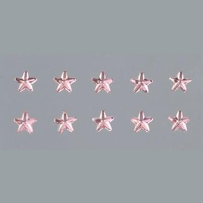 Самозалепващи се кристали, Stern, звезда, 4, 5, 6, 8 mm, 56 бр., светла роза