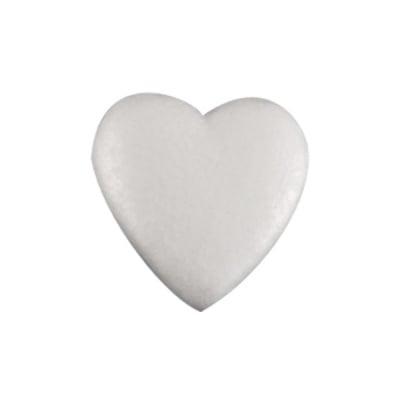 Сърце от стиропор, бял, 85 mm
